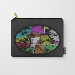 Pastel Porthole - Abstract, geometric, textured, pastel coloured artwork Carry-All Pouch