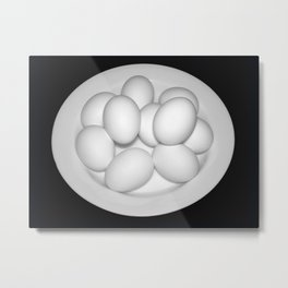 Eggs Still Life Metal Print