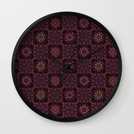 Quilt Patchwork Tile Pattern Wall Clock