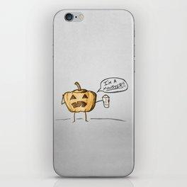 Pumpkin Spice Monster iPhone Skin