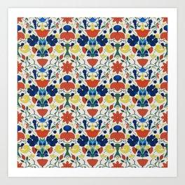 Small Tiled Flowers Art Print