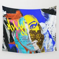 amy hamilton Wall Tapestries featuring Amy by Alexandre Perotto