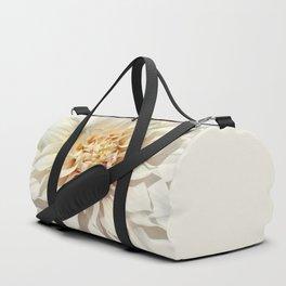 Dahlia white macro 043 Duffle Bag