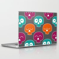 skulls Laptop & iPad Skins featuring Skulls by Michael Goodson