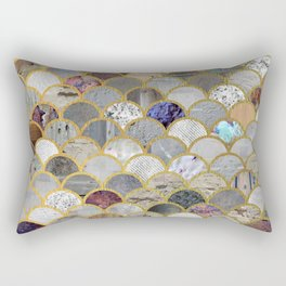 Textured Moons Rectangular Pillow