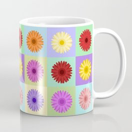 Gerbera Daisies Bright Color Design Coffee Mug