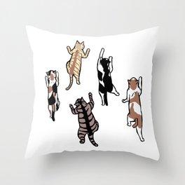 Climbing Cats Throw Pillow