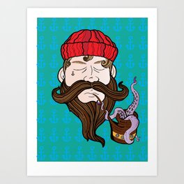 Captian Our Captian Art Print