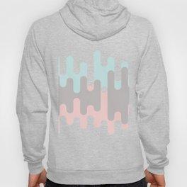 Pastel Pink ,Gray and Blue Liquid Shape Hoody