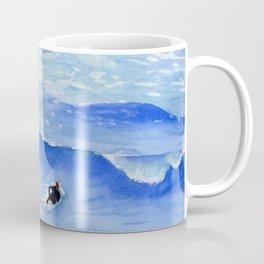Getting ready to take this wave surf art Coffee Mug