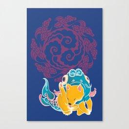 Fish Funny Dog Costume - Sea Collection Canvas Print