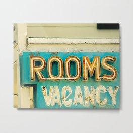 Rooms Neon Sign Metal Print