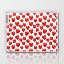 Strawberries - trendy fresh tropical fruit vegan vegetarian juice juicing cleanse Laptop & iPad Skin