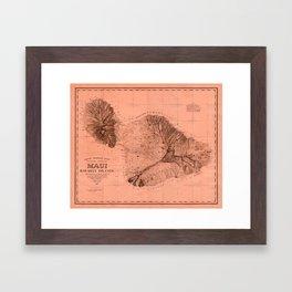 Map Of Maui 1885 Framed Art Print