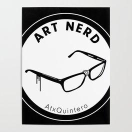 Art Nerd Glasses Poster