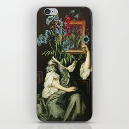 Florales Portrait Disaster iPhone Skin