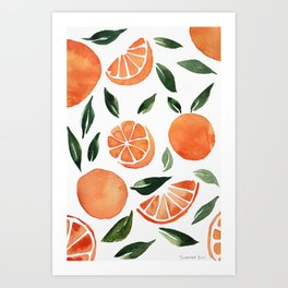 Summer oranges Art Print