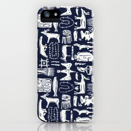 Inuit Eskimo Carvings by Nettwork2Design - Nettie Heron-Middleton iPhone Case