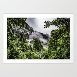 Clouds Blowing through the Mountains of the Chocoyero-El Brujo Nature Reserve in Nicaragua Art Print