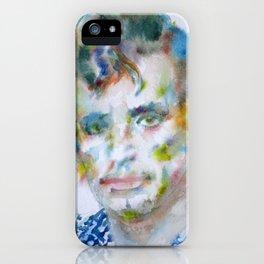 JACK KEROUAC - watercolor portrait iPhone Case