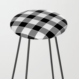 Buffalo Check - black / white Counter Stool