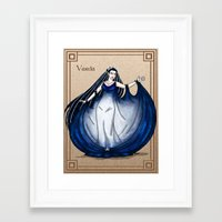 valar morghulis Framed Art Prints featuring Varda by wolfanita