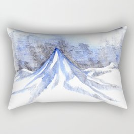 Lonely Blue Mountain Rectangular Pillow