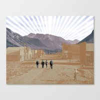 western Canvas Prints featuring Western by J Will Morrison Design