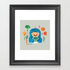 Broccoli Veggie Monster Framed Art Print