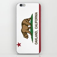 oakland iPhone & iPod Skins featuring Oakland California Republic Flag by NorCal