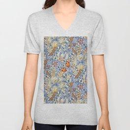 William Morris Golden Lily Victorian Wallpaper Unisex V-Neck