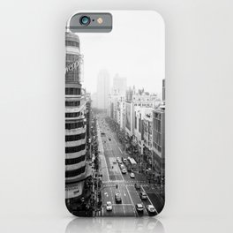Gran Via in Madrid iPhone Case