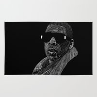 jay fleck Area & Throw Rugs featuring Jay-Z by William