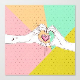 Heart Hands [Vintage Candy Edition] Canvas Print