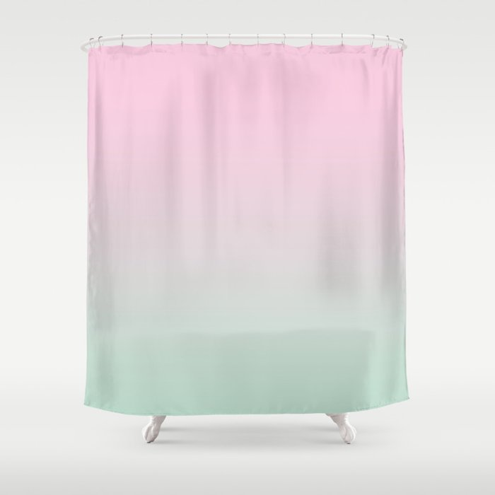 Keelee Ombre Pastels Minimal Canvas Art Painting Sunset Nursery Baby Room Shower Curtain By Charlottewinter