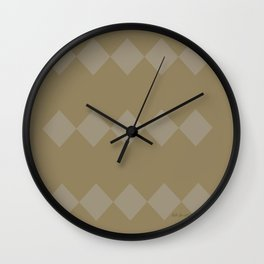 Gold and Diamonds Wall Clock