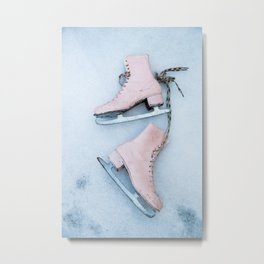 Ice Skates Metal Print