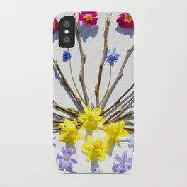 Spring flowers and branches III iPhone Case