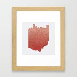 Ohio Skylines Framed Art Print