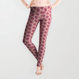Her Smile (Spring Blooming Rose Pink Dahlia) Leggings