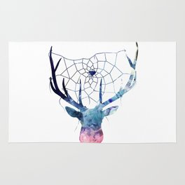 Deer Catcher Crystal Rug
