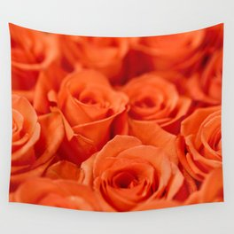Delicate red roses Wall Tapestry