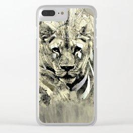 Lioness spy surveillance mission logo blanc urban fashion culture Jacob's 1968 Paris Agency Clear iPhone Case