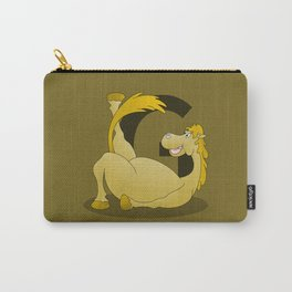 Pony Monogram Letter G Carry-All Pouch