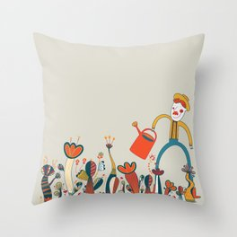 In Flowers Throw Pillow