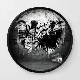 Original Grace&Manners image - Banksy - GRAFITTI Wall Clock