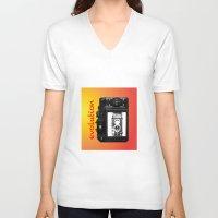 evolution V-neck T-shirts featuring Evolution by Mike van der Hoorn