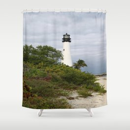 Bill Baggs - Cape Florida Light Shower Curtain