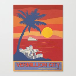 Vermillion City Poster Canvas Print