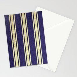 Light striped on dark background Stationery Cards